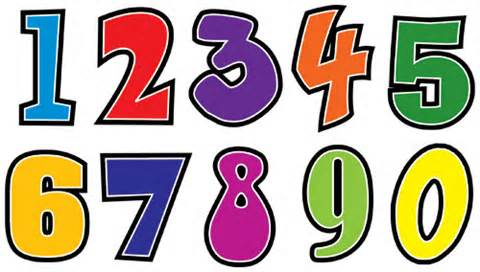 Image result for numbers clipart