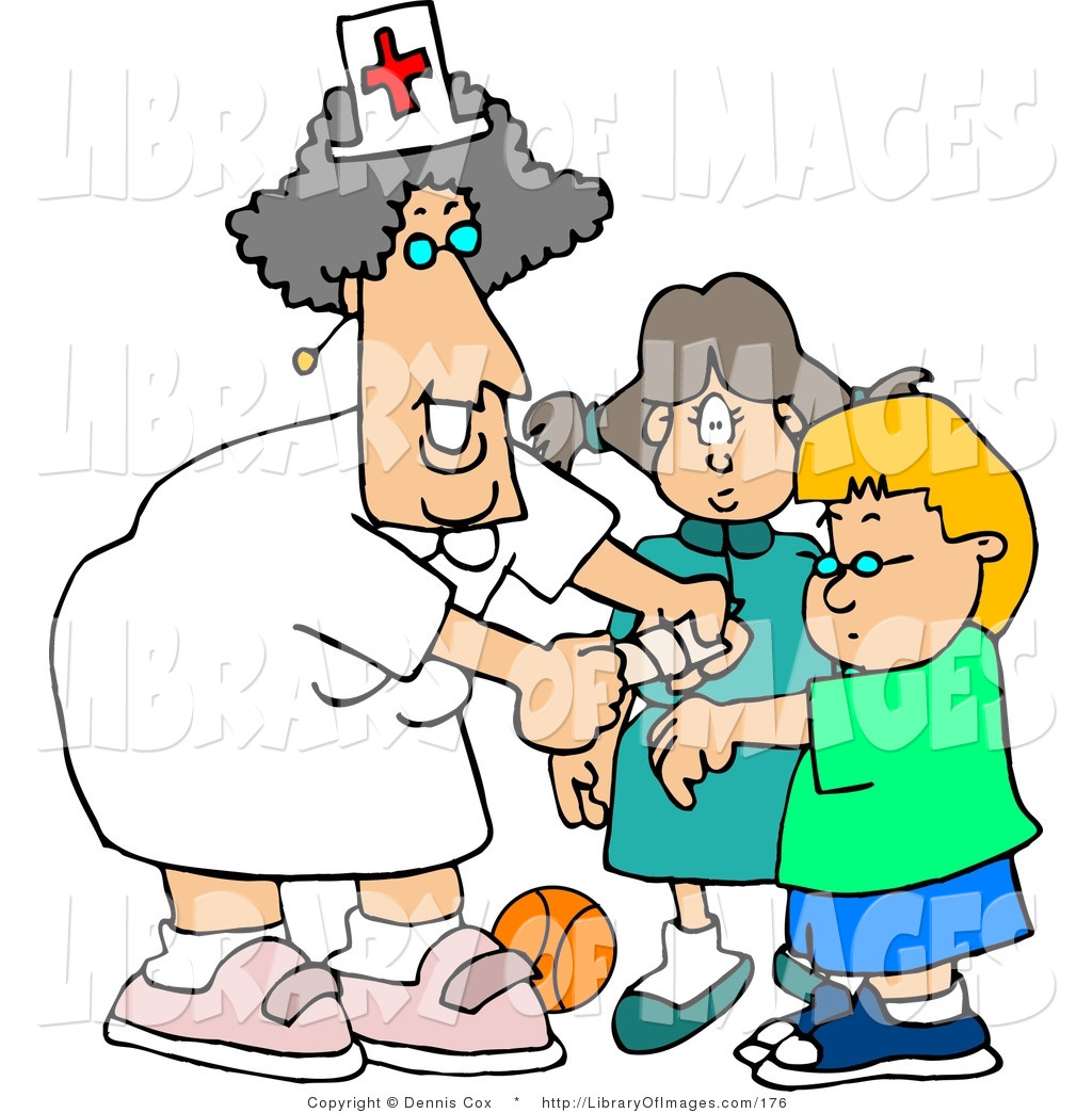 nurse-clip-art-clip-art-of-a-smiling-female-school-nurse-putting-a ...