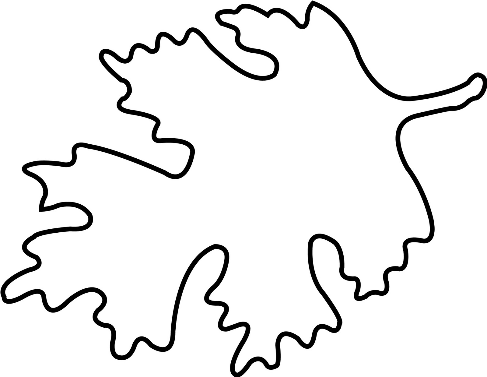 coloring pages oak leaf - photo#18