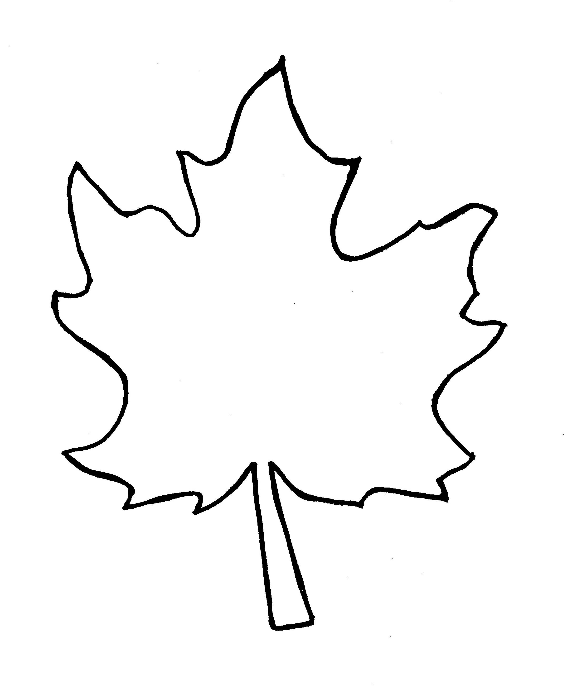 fall leaf template