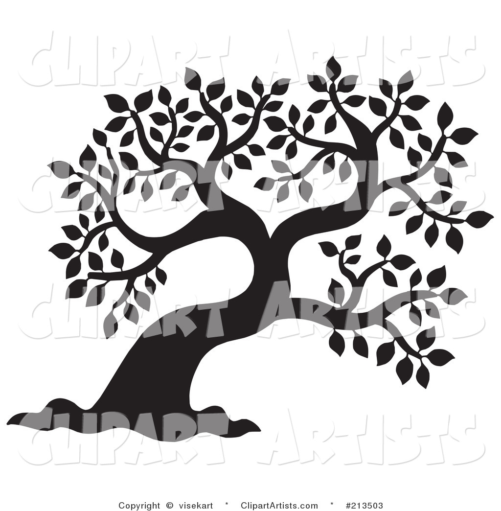 oak-tree-clipart-black-and-white-vector-tree-clipart-by-visekart    Oak Tree Clip Art Black And White