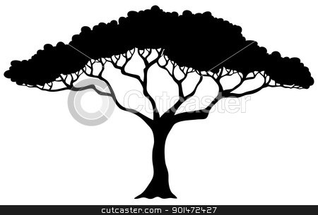how to draw silhouettes of trees