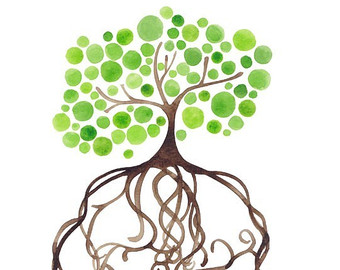 Oak Tree Silhouette With Roots | Clipart Panda - Free Clipart Images