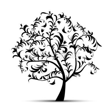 Clip Art Tree Silhouette Clip Art oak tree silhouette clipart panda free images