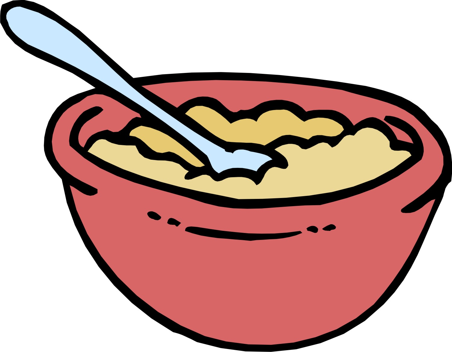 Mixing Spoon Clip Art Oatmeal Clipart Cholesterol
