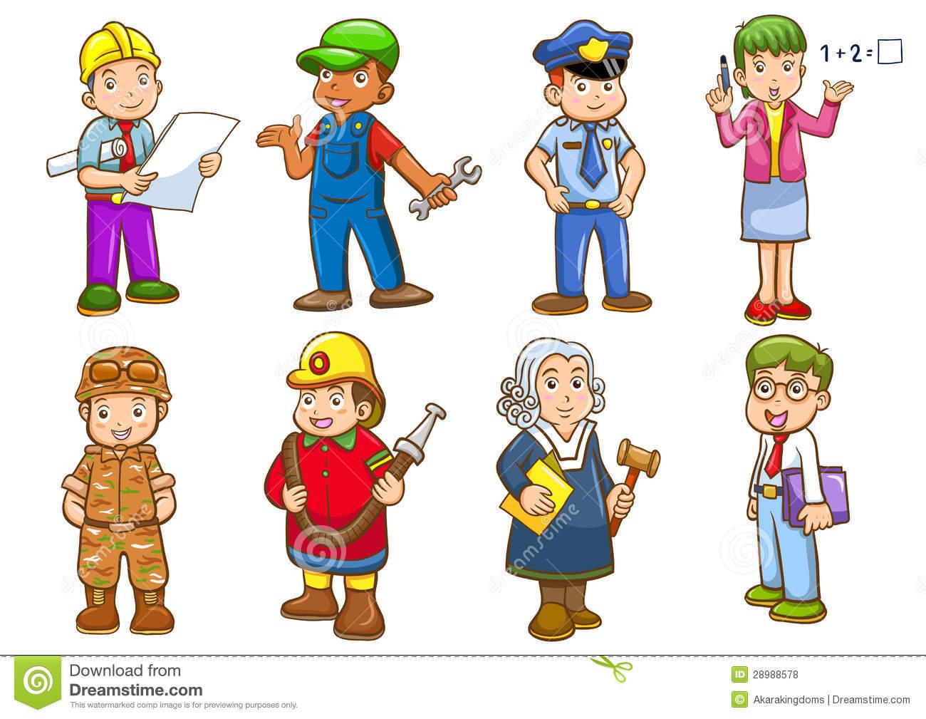 Рисунки профессий людей для детей