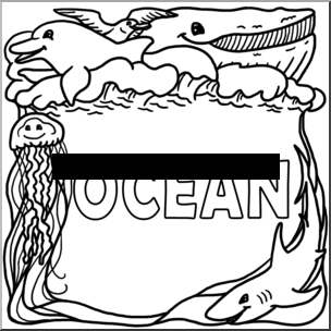 ocean-clipart-black-and-white-oceanbiome bw pw pngOcean Clip Art Black And White