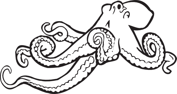 Octopus Coloring Page | Clipart Panda - Free Clipart Images