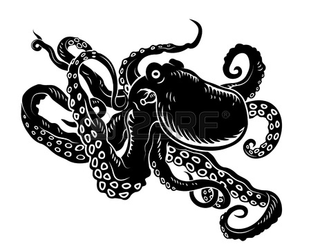 Octopus Silhouette | www.pixshark.com - Images Galleries ...