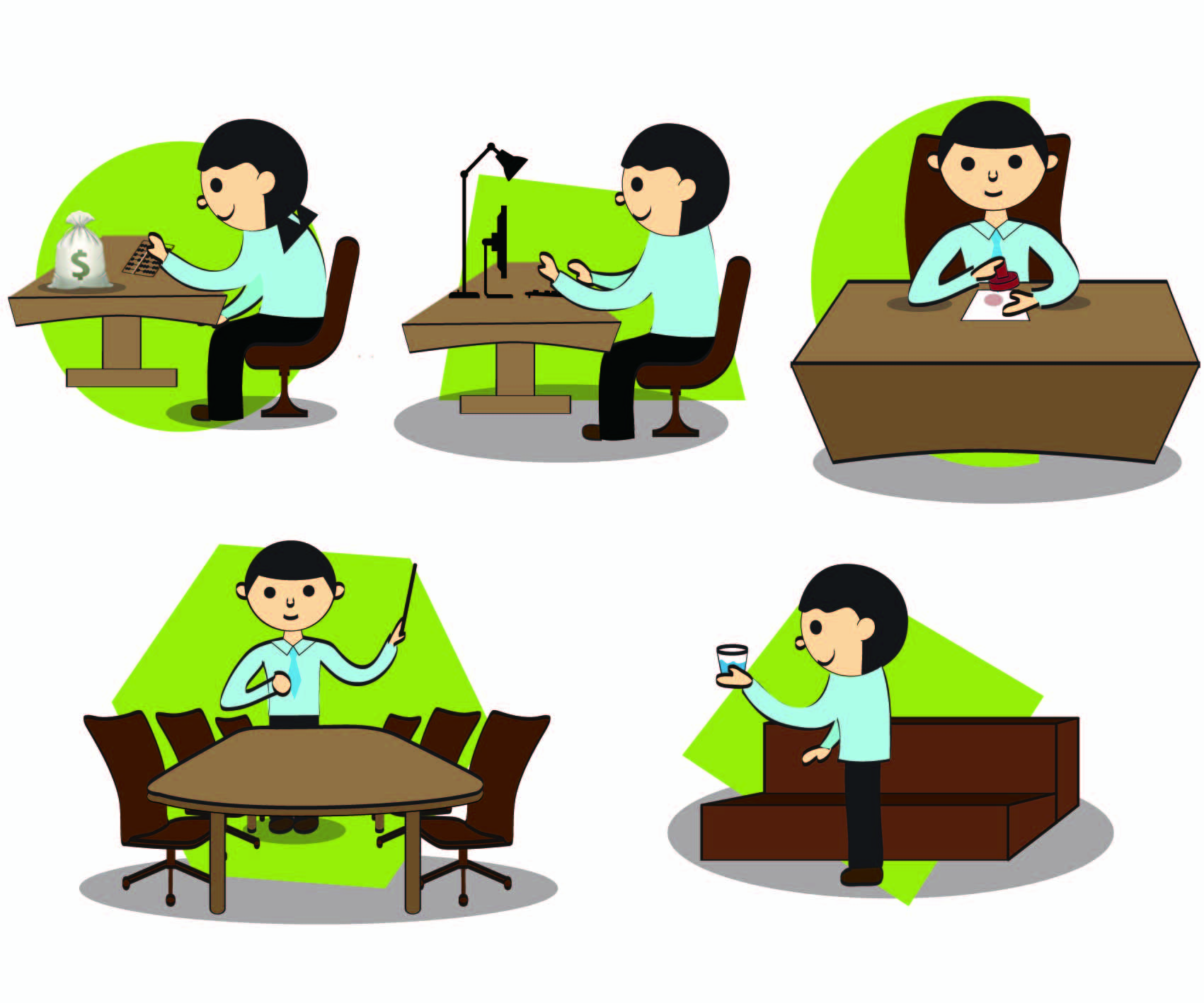 office people working clipart panda free clipart images