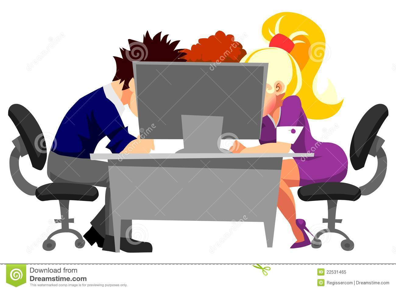 People working in office at | Clipart Panda - Free Clipart ...