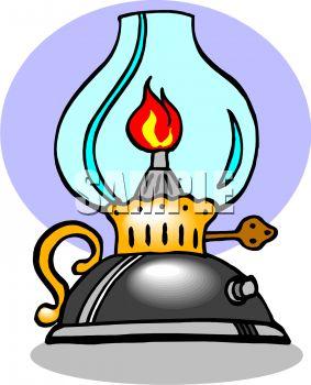 Oil Lamp Clipart Black...