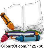 Open Book Clip Art Color