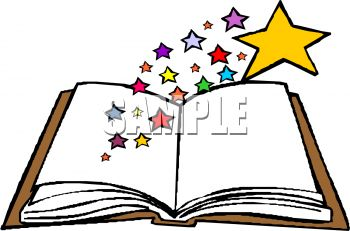 open book with stars coming clipart panda free clipart images