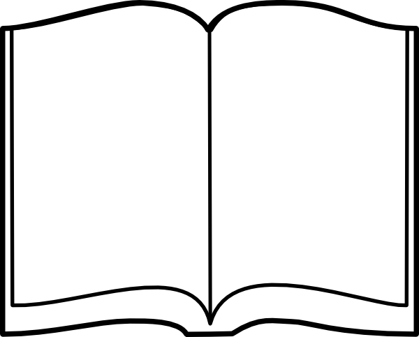 Blank Black Book Cover Template ~ Open book outline clipart panda free