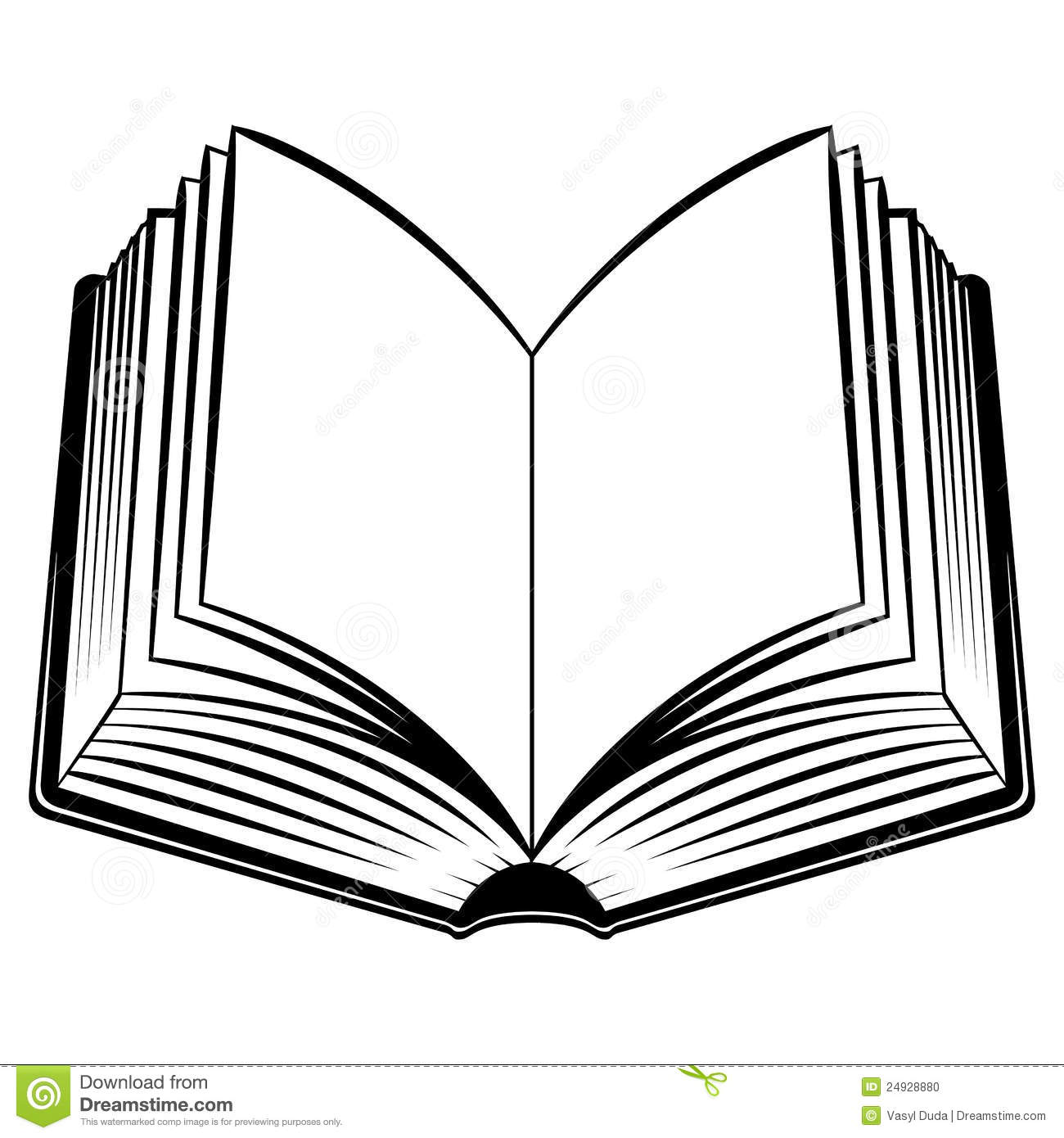 Line Art Book : Open book outline clipart panda free