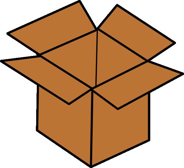 Open brown. Box clip art clipart