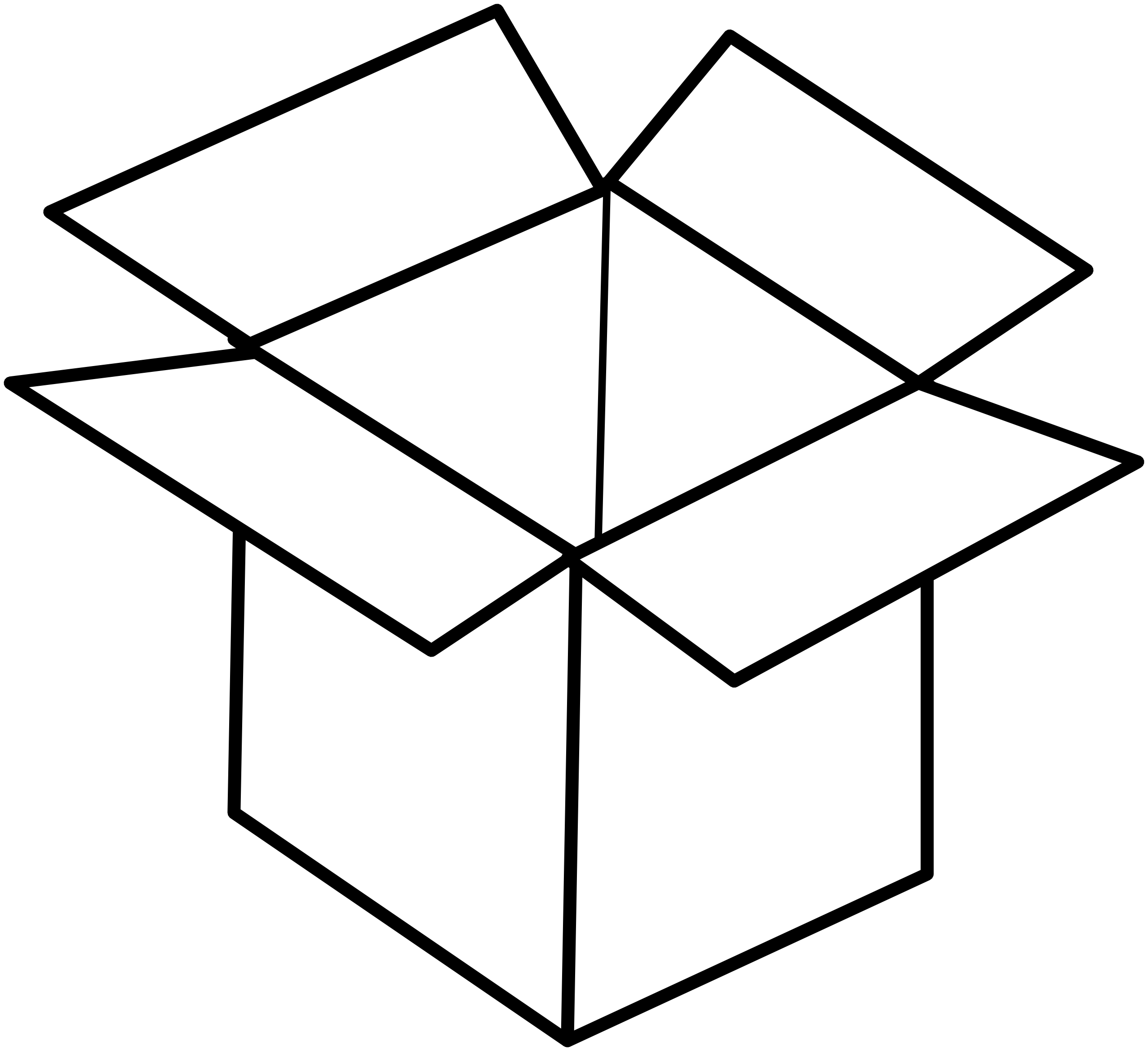 Single Line Box Art : Open box clipart panda free images