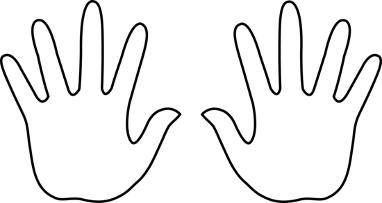 Open Hand Outline | Clipart Panda - Free Clipart Images