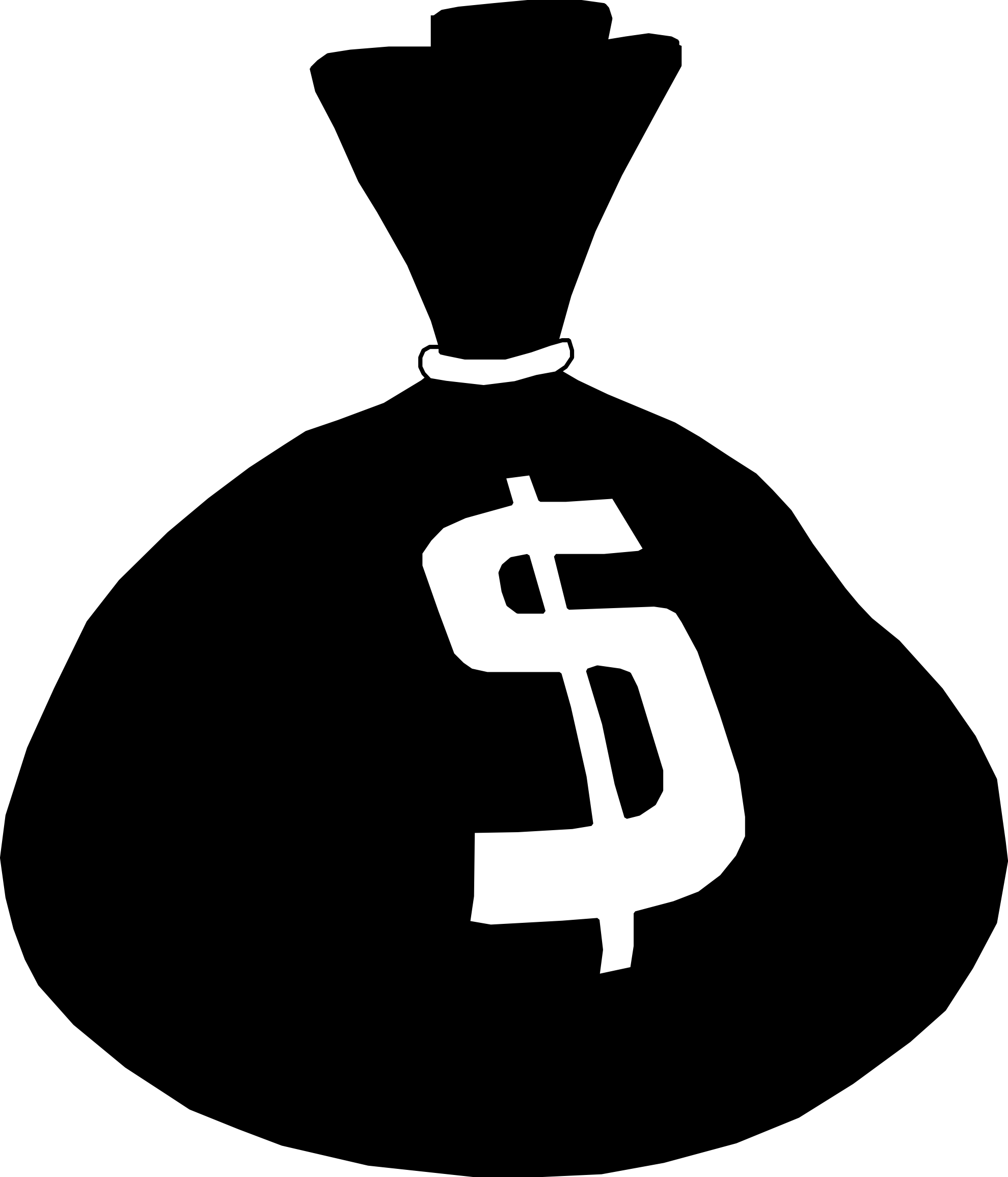 open-money-bag-clipart-money bag-1979px pngMoney Bag Clipart Black And White