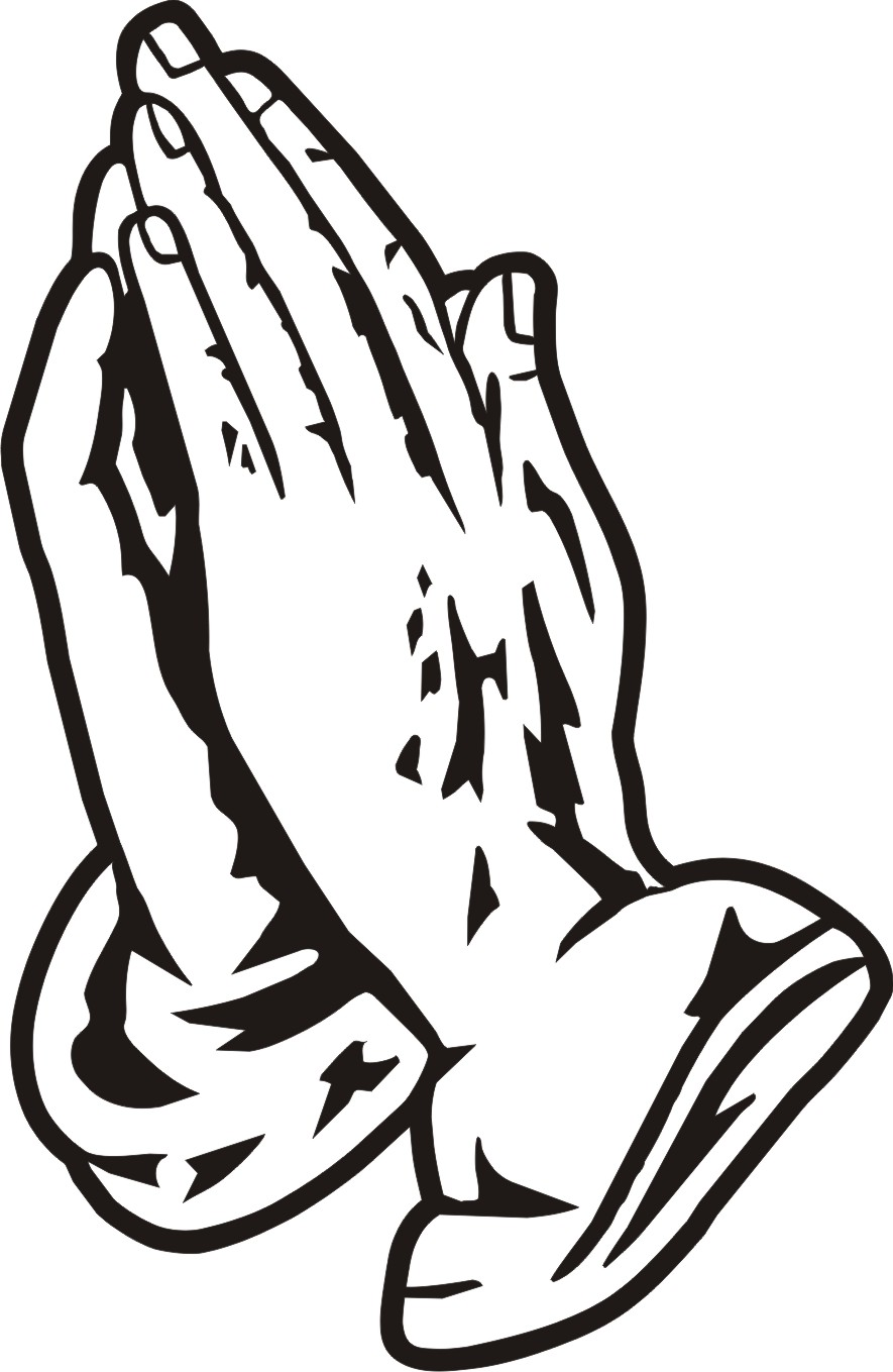 praying hands coloring page - open praying hands clipart clipart panda free clipart