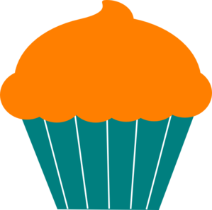 orange birthday cupcake clip art clipart panda free