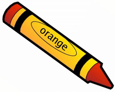 Orange Crayon Clipart