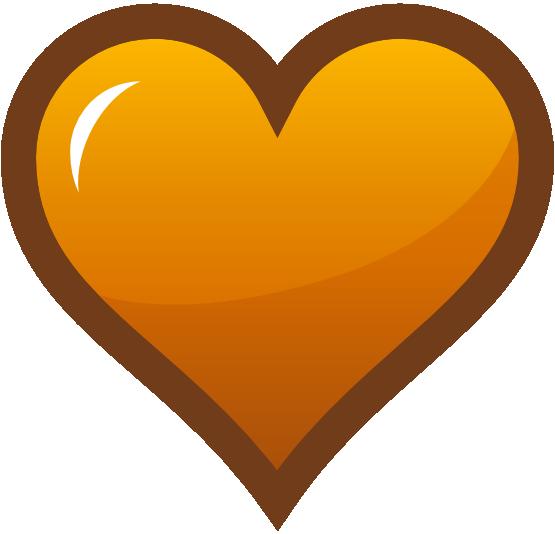 Orange Heart Clipart Clipart