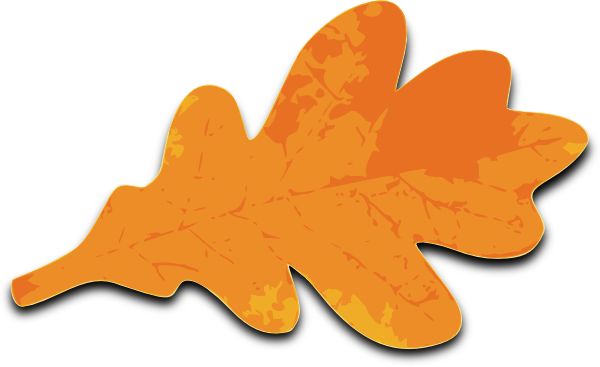 Leaf orange. Maple clip art clipart