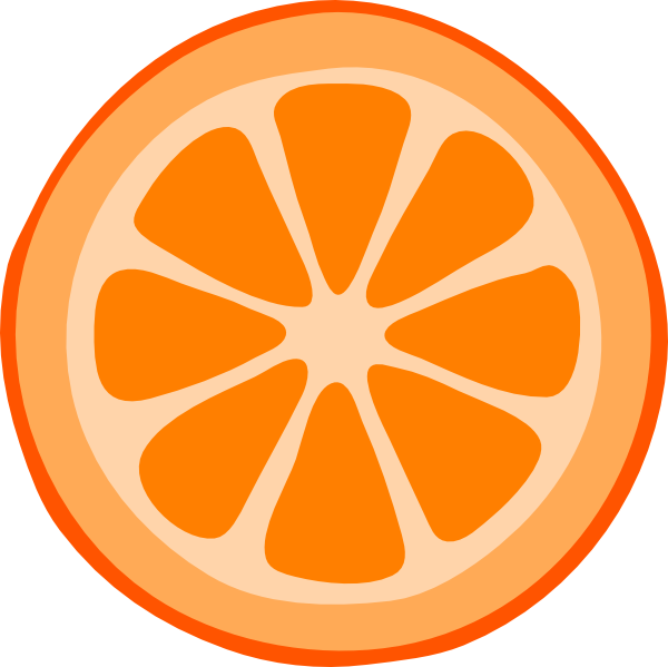 Orange Slice Vector | Clipart Panda - Free Clipart Images