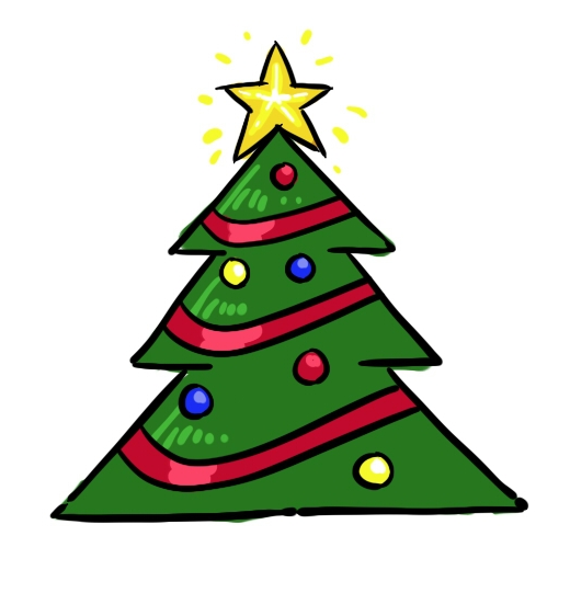 Christmas Trees Drawing.How To Draw Christmas Trees 5 Clipart Panda Free