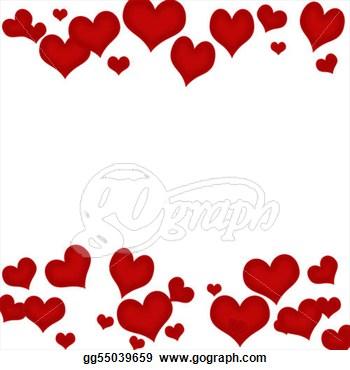 Hearts border. Heart clip art clipart