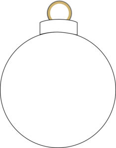 Christmas Ornament Clipart Black And White | Clipart Panda - Free ...