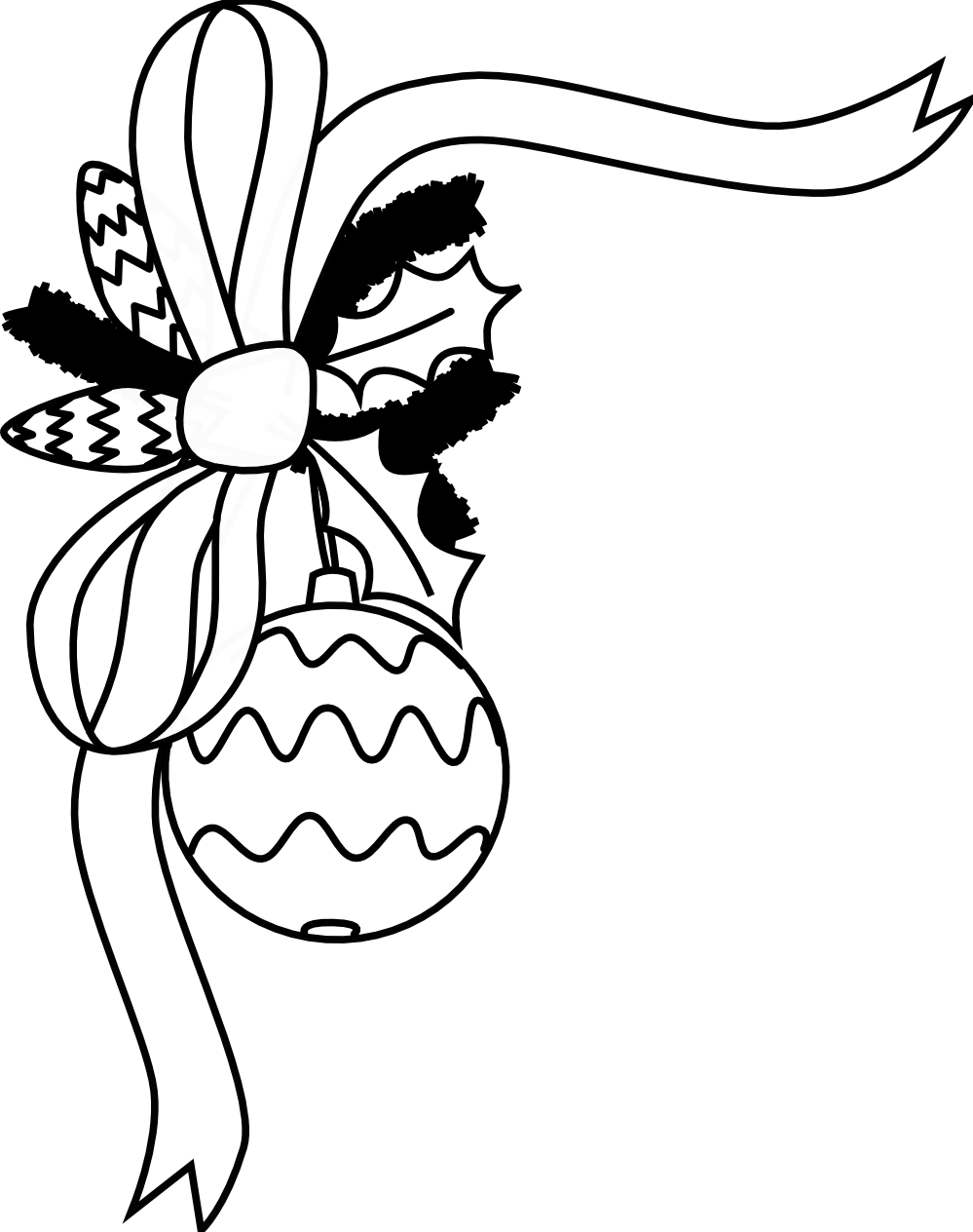 Christmas ornament black and white - Ornament 20clipart 20black 20and 20white