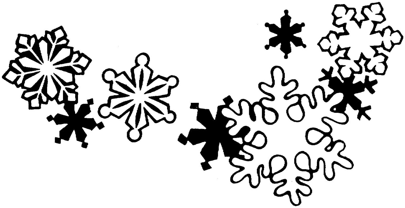 christmas decorations clipart borders black and white photo16