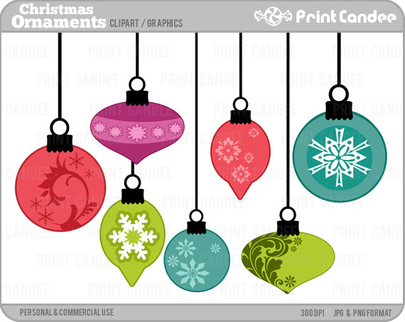 Ornaments Clip ArtVintage Christmas Ornaments Clipart
