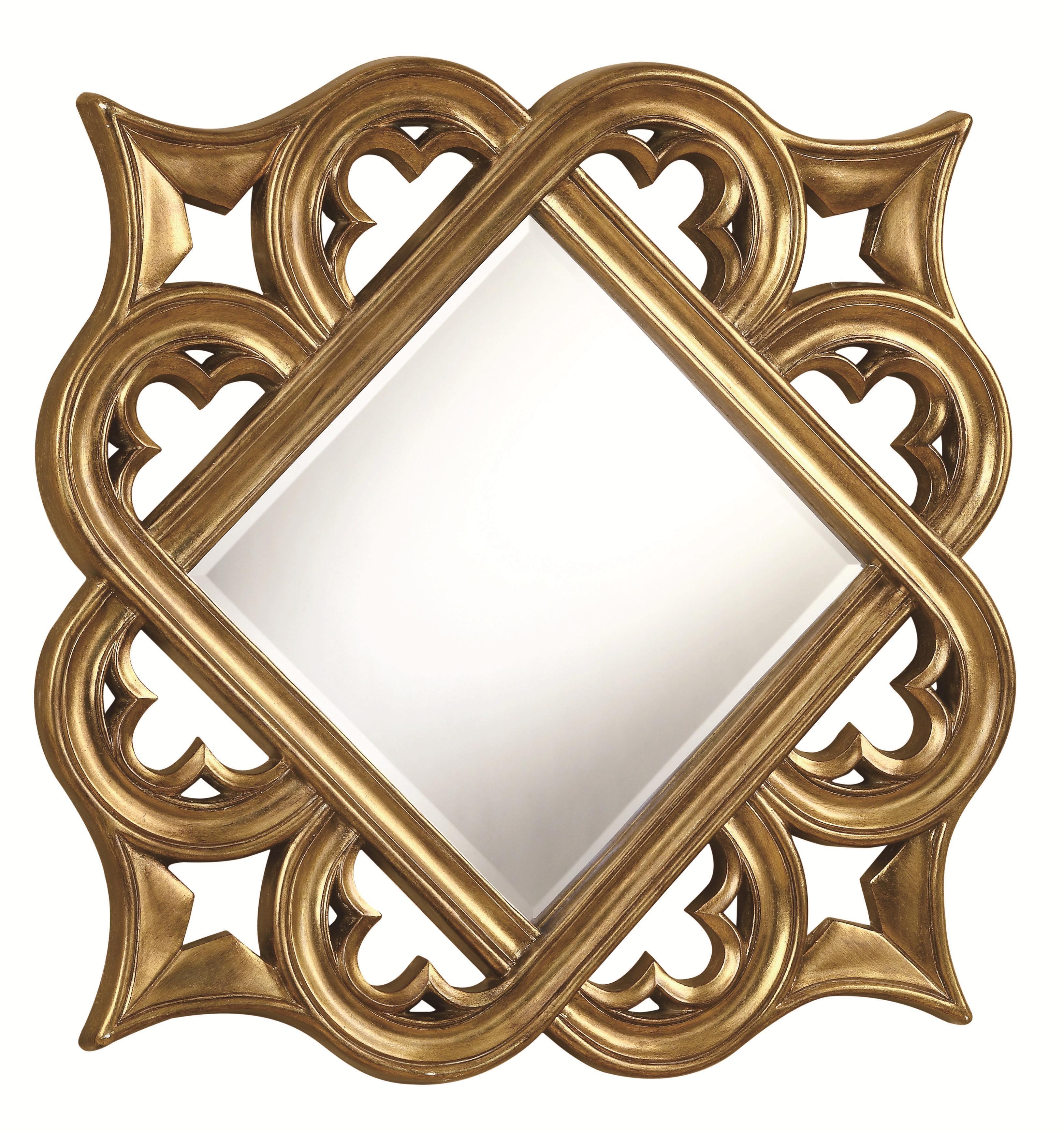 ornate round gold frame