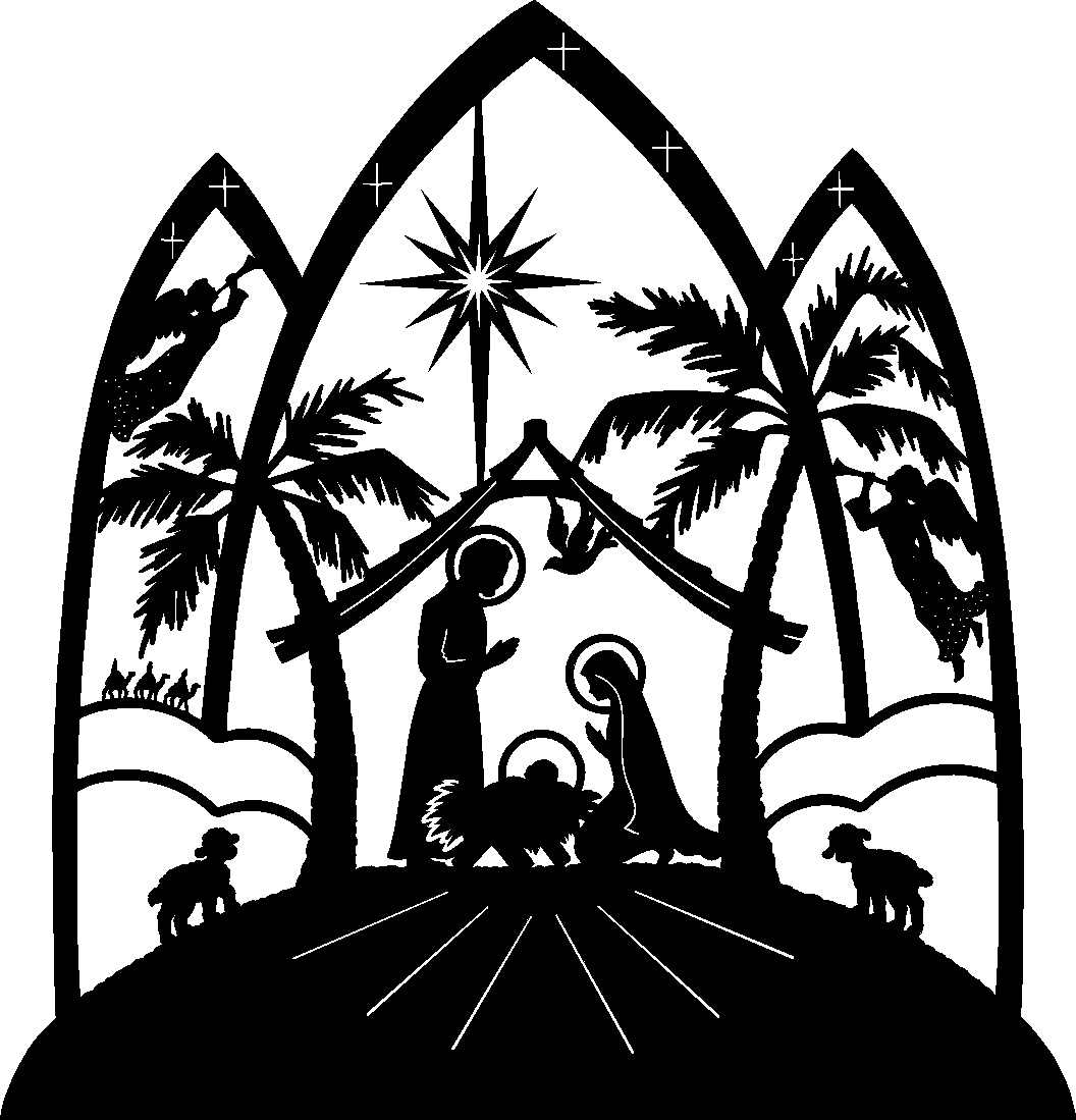 Religious Christmas Clipart Black And White | Clipart Panda - Free ...