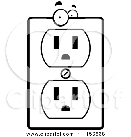 Light Switch Black And White Coloring Pages