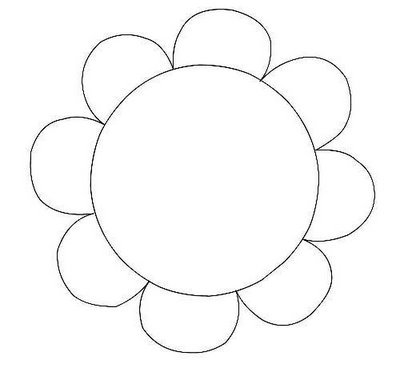 Flower Outlines Printable Flower Outline Clipart...