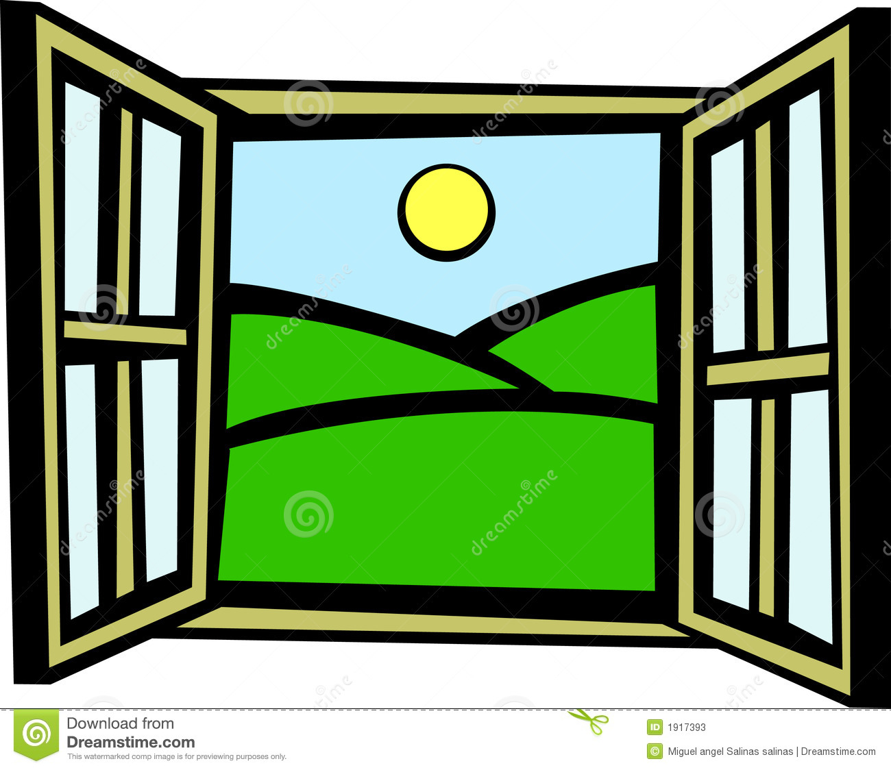 Outside window clipart clipart panda free clipart images for Window design clipart