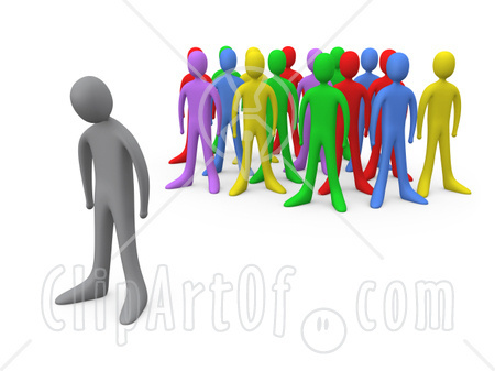 outsider clipart seperated