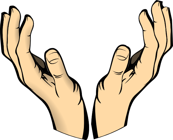 two open hands clipart clipart panda free clipart images