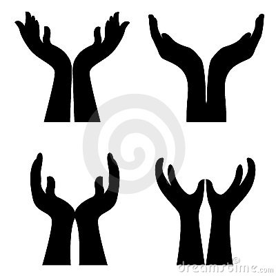 Pics For > Open Hands Praying Clipart