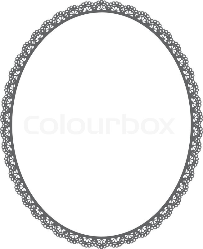 Vector oval frame on white | Clipart Panda - Free Clipart Images