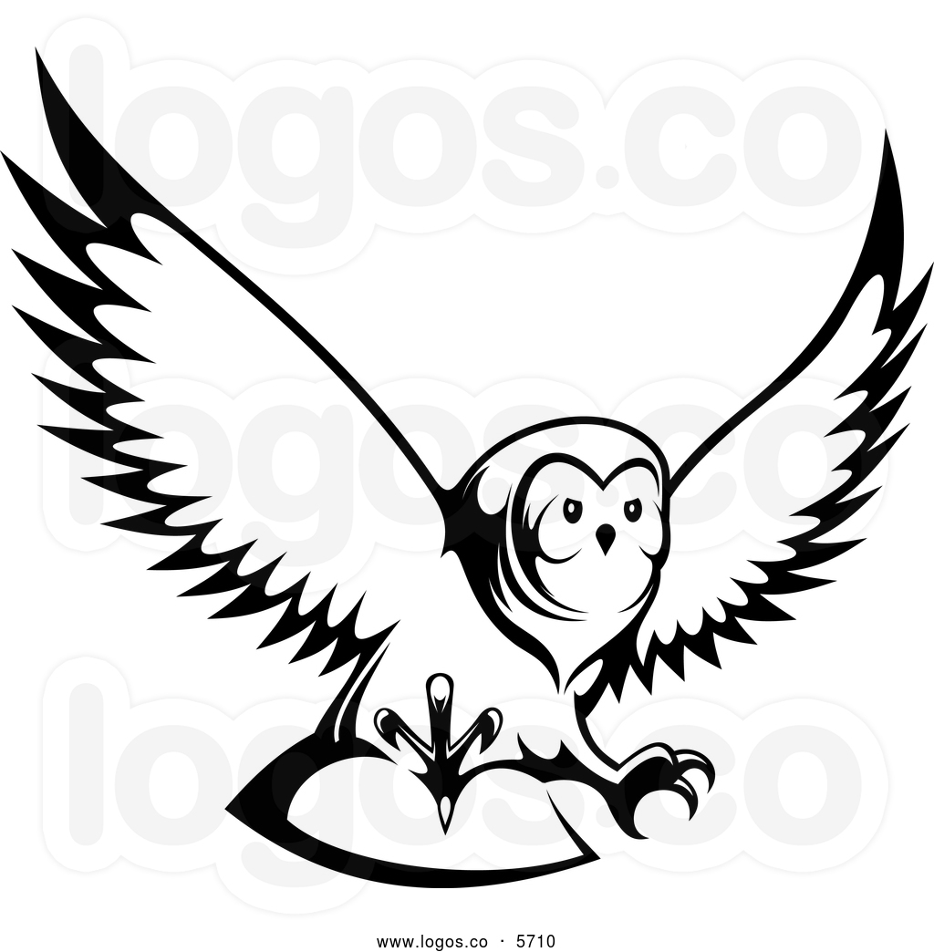 black-and-white-royalty-free-vector-of-a-logo-of-a-black-and-white-owl ...