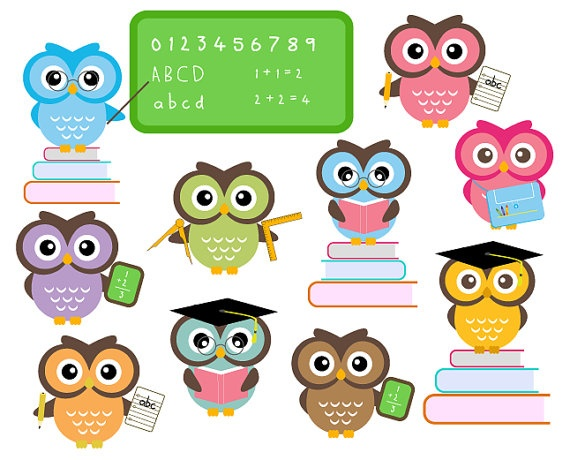 Image result for owl school clipart