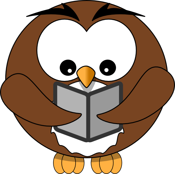 owl reading clipart clipart panda free clipart images rh clipartpanda com Cartoon Owl Clip Art Owl with Book Clip Art