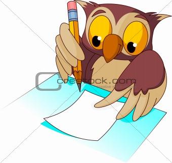 owl writing clip art clipart panda free clipart images rh clipartpanda com free owl writing clipart Person Writing Clip Art