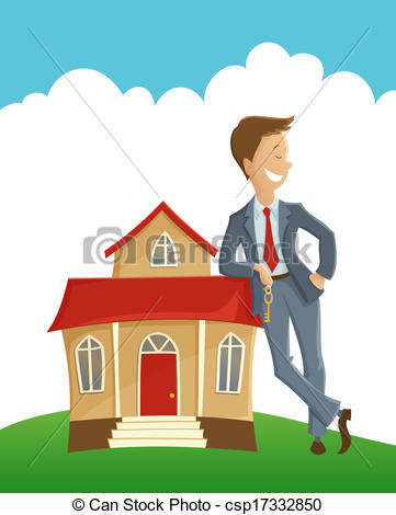 owner and his house vector clipart panda free clipart images